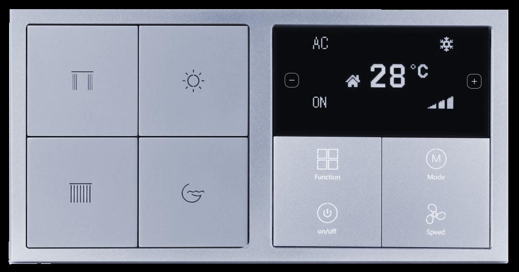 HDL Tile 2 секции термостат и 4 клавиши